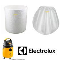 Kit Filtro Aspirador De Pó Electrolux Gt20n E Gt30n + 1 Filtro Pano -