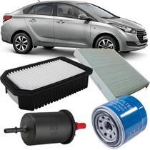 Kit Filtros De Ar Óleo Combustível Cabine Hyundai Hb20 1.6 16v Confort Plus Premium 2012 2013 2014 2015 2016 2017 2018 -