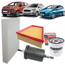 Kit filtros de ar óleo combustível e cabine - Ford New Fiesta Ecosport E Novo Ka -