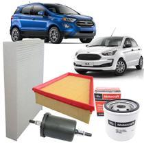 Kit Filtros De Ar Óleo Combustível E Cabine Ford Nova Ecosport E Novo Ka 1.5 12v Dragon 3 Cilindros -