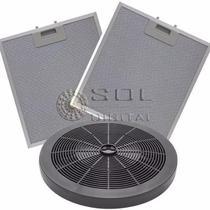 KIT Filtros Depuradores Electrolux 60cm (4 Bocas): Carvão e Metálicos -