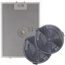 Kit Filtros Metálico E Carvão Coifas Electrolux 60cv E 90cv -