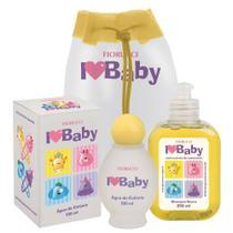 Kit Fiorucci Baby Água de Colônia 100ml + Shampoo 250ml + Mochila -