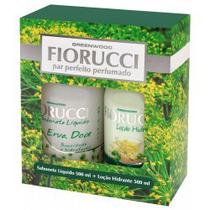 Kit Fiorucci Sabonete Líquido + Loção Hidratante Erva Doce 500ml -