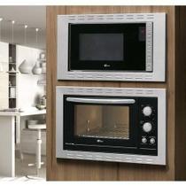Kit Fischer Linha New Fit Line Forno 44l   Micro Ondas 25lt Embutir - 127v -