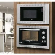 Kit Fischer Linha New Fit Line Forno 44l   Micro Ondas 25lt Embutir - 220v -