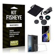 Kit Fisheye Samsung Galaxy Note 9 Lente Fisheye + Capa + Película de Vidro - Armyshield -