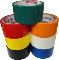 Kit Fita Adesiva 10pcs Coloridas 48mmx40m Larga Embalagem - Fit-Pel