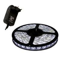 Kit Fita LED 3528 Branco Frio (5000/5500K) 10m - 2 rolos 5m com 2 fontes 12V para alimentação - Gigaled