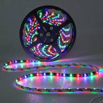 Kit Fita LED Colorida RGB INCIDENTAL Modelo 3528 com 10m (2 rolos) com acessórios - Diversos