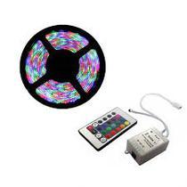 Kit Fita LED Colorida RGB INCIDENTAL Modelo 3528 com 15m (3 rolos) com acessórios - Diversos