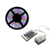 Kit Fita LED Colorida RGB INCIDENTAL Modelo 3528 com 20m (4 rolos) com acessórios - Diversos