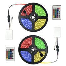 Kit Fita LED RGB 5050 com 10 Metros 10m e Controle Remoto - RecallInformatica