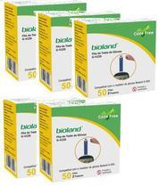 Kit Fita Medição De Glicose G423s Bioland 5 Fitas 50 Caixas -