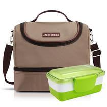 Kit Fitness Bolsa Térmica e Pote Marmita com 2 Compartimentos - Jacki Design