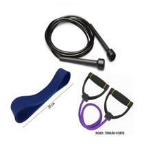 Kit Fitness Prottector Forte - corda + extensor + rubber band -