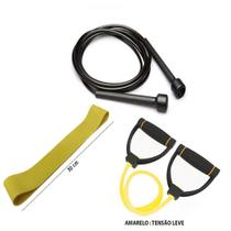 Kit Fitness Prottector Leve - corda + extensor + rubber band -
