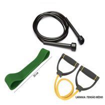 Kit Fitness Prottector Médio - corda + extensor + rubber band -