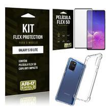 Kit Flex Protection Galaxy S10 Lite Capa Anti Impacto + Película Flex 5D - Armyshield -
