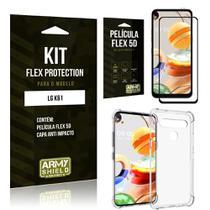 Kit Flex Protection LG K61 Capa Anti Impacto + Película Flex 5D - Armyshield -