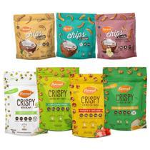 Kit Flormel Lançamentos 4 Crispy e 3 Chips Zero Açúcar -