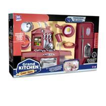 Kit fogaozinho de brinquedo com geladeira grand kitchen chef kids 18 pecas - Zuca Toys