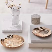 Kit Folha Rose Gold em Cerâmica Inova Decor Br - Id