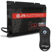 Kit Fonte Automotiva JFA 60A 900W SCI Bivolt + Controle Longa Distância JFA K1200 1200 Metros Preto -