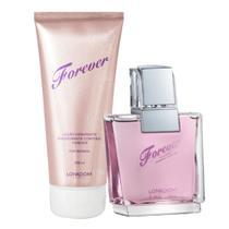 Kit Forever For Women com Perfume Feminino edp e Hidratante Perfumado Lonkoom -