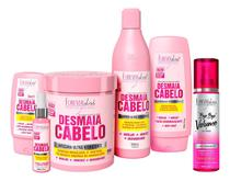 Kit Forever Liss Desmaia Cabelo Completo C/ Máscara 950g + Bye Bye Volume e Frizz 200ml -