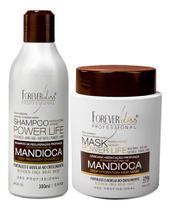 Kit Forever Liss Mandioca Shampoo 300ml + Máscara 250g -