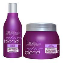 Kit Forever Liss Matizador Platinum Blond Shampoo + Mask 250g -