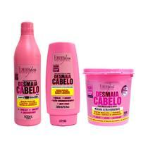 Kit Forever Liss Shampoo, Condicionador e Máscara Desmaia Cabelo -