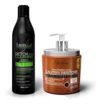 Kit Forever Liss Shampoo Detox + Cauterização Cauter Restore -