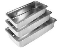 Kit Forma Aluminio De Pao E Gelo Com 03 Pecas Nr. 1, 2 E 3 - Asj
