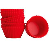 Kit Forma de Silicone Cupcake Muffin 12 Unidades 8511 - Mor -