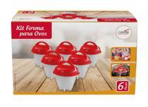Kit Forma de Silicone para Cozinhar Ovos 6Pçs - Casita