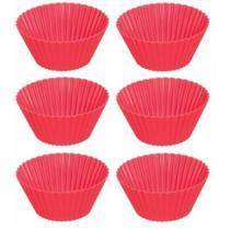 Kit Forma de Silicone para Cupcake 6 Unidades - Yangzi -