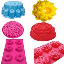 Kit Formas Silicone Para Bolo Torta Pudim Pão Com 6 Formas - Amoroza