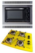Kit Forno De Embutir 45l + Cooktop 4 Bocas Amarelo Safanelli -