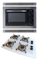 Kit Forno De Embutir 45l + Cooktop 4 Bocas Branco Safanelli -