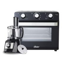 Kit Forno Elétrico e Fryer 22L e Processador de Alimentos Compacto Oster -