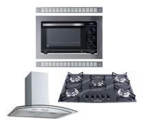 Kit Forno Embutir 45l Cooktop 5 B Coifa Gourmet 60 Cm Safanelli -