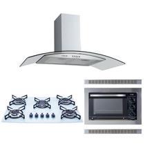 Kit Forno Embutir 45L Cooktop Colors Coifa Gourmet 80Cm Safanelli -