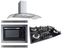 Kit Forno Embutir Coifa Gourmet Cooktop Tripla Chama Safanelli -
