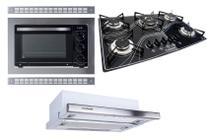 Kit Forno Embutir Depurador Embutir Cooktop Tripla Chama Safanelli -