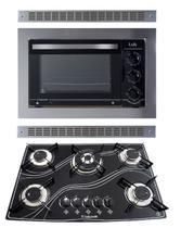 Kit Forno Embutir Profissional e Cooktop Tripla Chama Safanelli -
