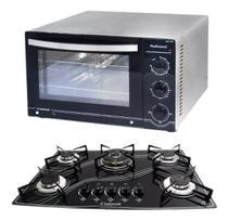 Kit Forno Profissional Inox 45L Cooktop Tripla Chama Safanelli -