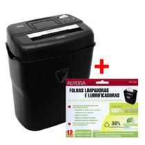 Kit Fragmentadora Papel 10 Fls 110v + Folha Lubrificação Aurora -
