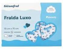 Kit Fralda Bebê Inconfral Luxo Meninos 70 cm x 70 cm pacote 5 unidades -